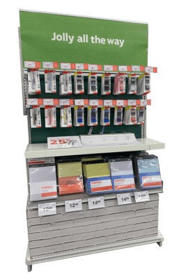 Home & Office End Cap Pen & Paper Display